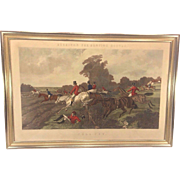 "SALE Antique Herrings Fox Hunting Scenes Plate  ""Full Cry"" Framed 1867  Engraved by"