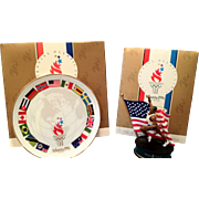 SALE 1996 Summer Olympics - Collectible Plate and Track and Field Figurine
