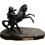 SALE Phaeton, par C. Desmeure Statue (White Metal) The Sun God Helios' Son