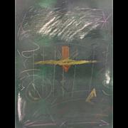 SALE Vintage Lee Newman Print Monoprint 2 Legend # 3 Framed & Matted