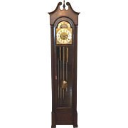 SALE Ant Colonial  Grandfather Clock Winterhalder & Hofmeier Mvmt 5 Tube Chime and Strike ...