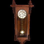 SALE Antique Vienna Regulator Clock Not Running Maker? Bim Bam Strike Project Clock