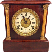 SALE Antique Sessions Mantel Clock Wood Case w/ Beautiful Graining Not Running