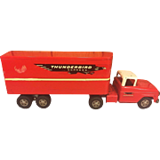 SALE Vintage Tonka Thunderbird Express Semi Truck and Trailer  w/ Detachable Tractor Early ...