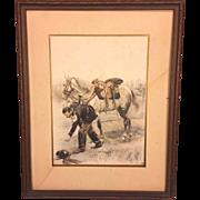 SALE Antique Edouard Jean Baptiste Detaille Lithograph