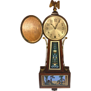 SALE Antique New Haven Winsome Model Time Only Clock Runs Brass Side Rails