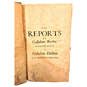 SALE Antique Law Book Pleadings and Cases The Reports of Gulielme Benloe Pleadings and Cases .