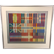 SALE Yaacov Agam Serigraph Ltd Edition Flags of All Nations - Europe 11 of 99 Framed ...