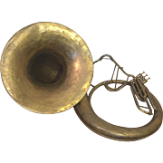 SALE Antique A K Huttl Graslitz Brass Tuba 3 Valves w/ Removable Bell Germany Circa ...