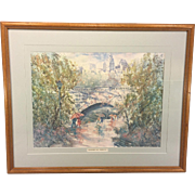 SALE Larry Anderson Brandywine Park Limited Edition Print Framed and Matted