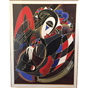 "SALE Martiros Manoukian Acrylic Serigraph ""Harlequin's Lullaby"" Artist Proof 38 0f 4"
