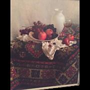 SALE Russian/Israeli Signed Oil on Canvas - Still Life Signed by Artist (Maria Manata (Matata