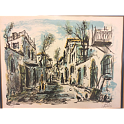 SALE S Raphuel Limited Edition Print 177/250  Village Street Scene