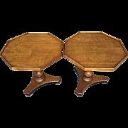 SALE Vintage Pair of Baker End Side Tables 1966 #336
