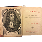 SALE The Fables of La Fontaine Illustrations by Gustave Dore Publ. by Cassell Petter and ...