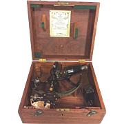 SALE Vintage Kelvin & Hughes Sextant in Wood Case 1952 London England