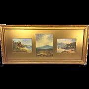 SALE Antique John White Allen Scott Watercolors Landscapes White Mountains New Hampshire Frame