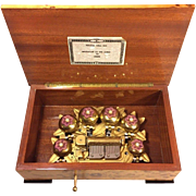 Vintage Sorrento Music Box Sanyko Player w/ Pin Cylinder and Bells Play  Beautifully Blonde ..