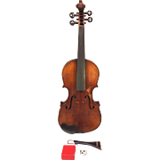 REDUCED Antique E Martin Violin (Germany)w/ Case   2 Piece Belly & Back Elegant Tuner Pegs