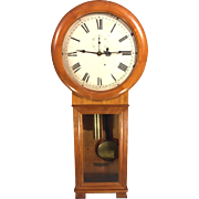SALE Antique Seth Thomas Regulator No 2 Wall Clock Cherry Case Weight Driven Runs Paper ...