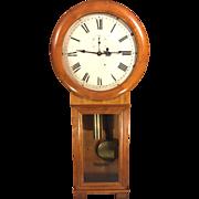 Antique Seth Thomas Regulator No 2 Wall Clock Cherry Case Weight Driven Runs Paper Label