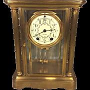 SALE Antique Seth Thomas Empire No 64 Crystal Regulator Clock Not Running