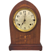 Antique Seth Thomas 5 Bell Sonora Chime Clock  Not Running  Inlaid Wood Case Early 1900s