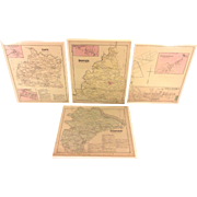 SALE 4 Antique Maps of York County PA 1876 by Beach Nichols Publ Pomeroy Whitman ...