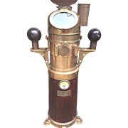 SALE Antique Henry Hughes & Son Ltd  Ship's Binnacle Compass Teak Wood Sides Brass Hood ...