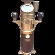 Antique Henry Hughes & Son Ltd  Ship's Binnacle Compass Teak Wood Sides Brass Hood and ...