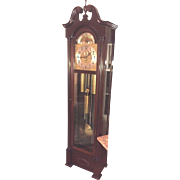 SALE Vintage Herschede Grandfather Clock Model 217  5 Tube Runs Strikes and Chimes Fabulous ..