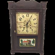 SALE Antique Samuel Terry Clock Case Splat & Column with Brass Movement Not Running & Striking