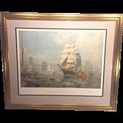 SALE Vintage John Stobart Artist Proof Ltd Edition Print   New York The Ship Henry B ...