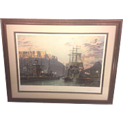 Vtg John Stobart Limited Edition Print 532/950   Cape Town The Bark William Hales Towing ...