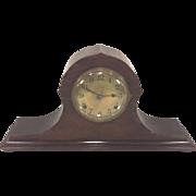 SALE Vintage Ingraham Mantel Clock Canto Model Gold Face Tambour Case Runs