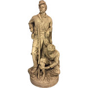 SALE John Rogers Groups Statue Wounded to the Rear One More Shot 1864 Civil War ...