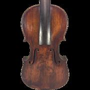 SALE Antique German Violin W&S w/ Lyre Label (Wunderlich) Leipzig Germany 2 Piece Belly ...