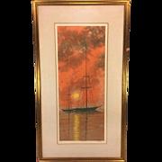 "SALE Vintage Richard Florsheim Ltd Edition Print ""Silhouette"" Signed 13/100"