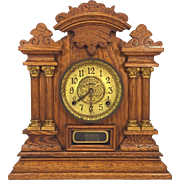 SALE Antique Ingraham Cabinet No 7 Victorian Mantel Clock Running & Striking  Columns and ...