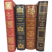 SALE 4 Easton Press Leather Bound Books Vanity Fair, The Histories, Livy & The Decameron 1978