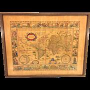 SALE Antique World Map Nova Totius Terrarum Orbis Geographica Ac Hydrographica Tabula ...