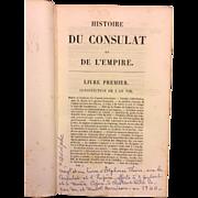 SALE Histoire Du Consulat Et De L' Empire 21 Volumes 1845 Adolphe Thiers  Item Description