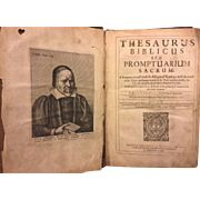 SALE First Edition Rare Book Thesaurus Biblicus Seu Promptuarium Sacrum  1644/1642  Richard ..