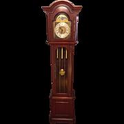 SALE Vintage Daneker Grandfather Clock Diplomat Model Cherry Case Not Running Strikes and ...