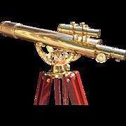 SALE Celestron Brass 21034 Refractor Telescope (80MM) & Sighter Piece (25MM) w/ Mahogany & ...
