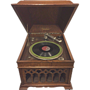 SALE Antique SilverTone Phonograph Runs