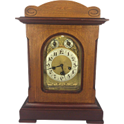 SALE Vintage Junghans Bracket Clock with Westminster Chimes A07 Movement Runs Impressed Wood .