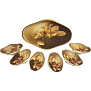 SALE Vintage 7 Piece Nippon Nut Bowl Set  Master Serving Bowl Plus 6 Individual Bowls
