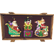 SALE Thomas Pacconi Museum Series Xmas Ornaments in Wood Case Set #1