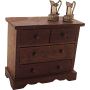 Nice Old Rustic Miniature Chest of Drawers for Doll House.